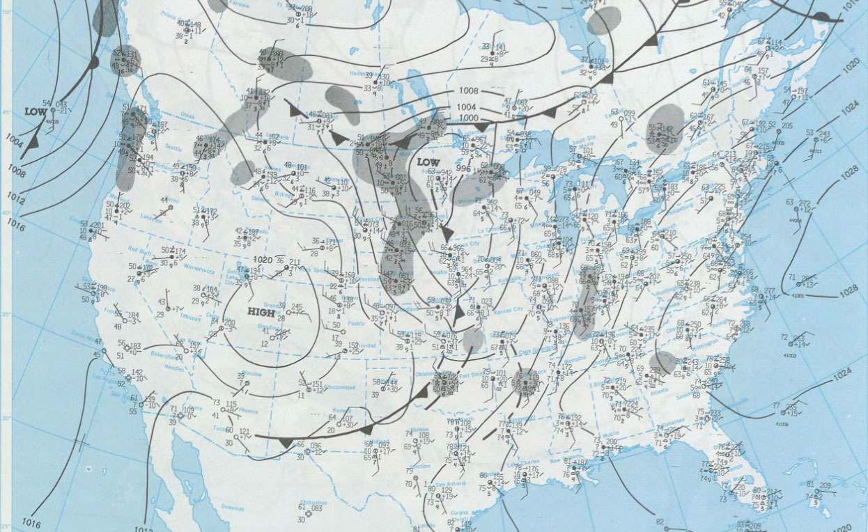 Surface Map Morning of June 2