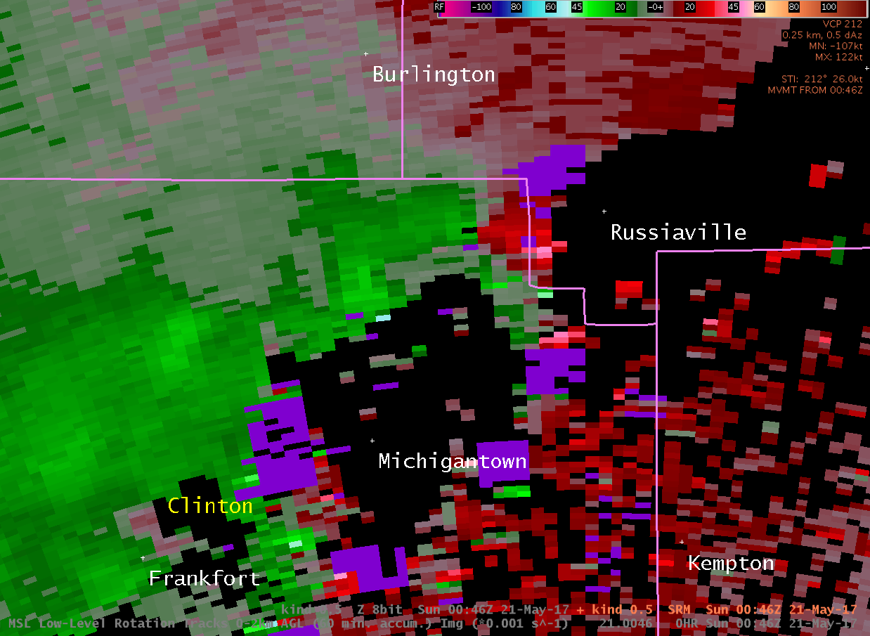 Storm Relative Velocity at 8:46 PM EDT