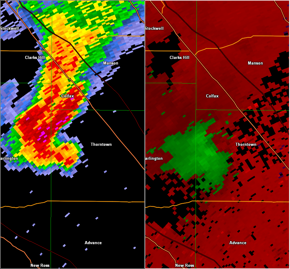 Radar/Velocity image at 7:41 PM EDT