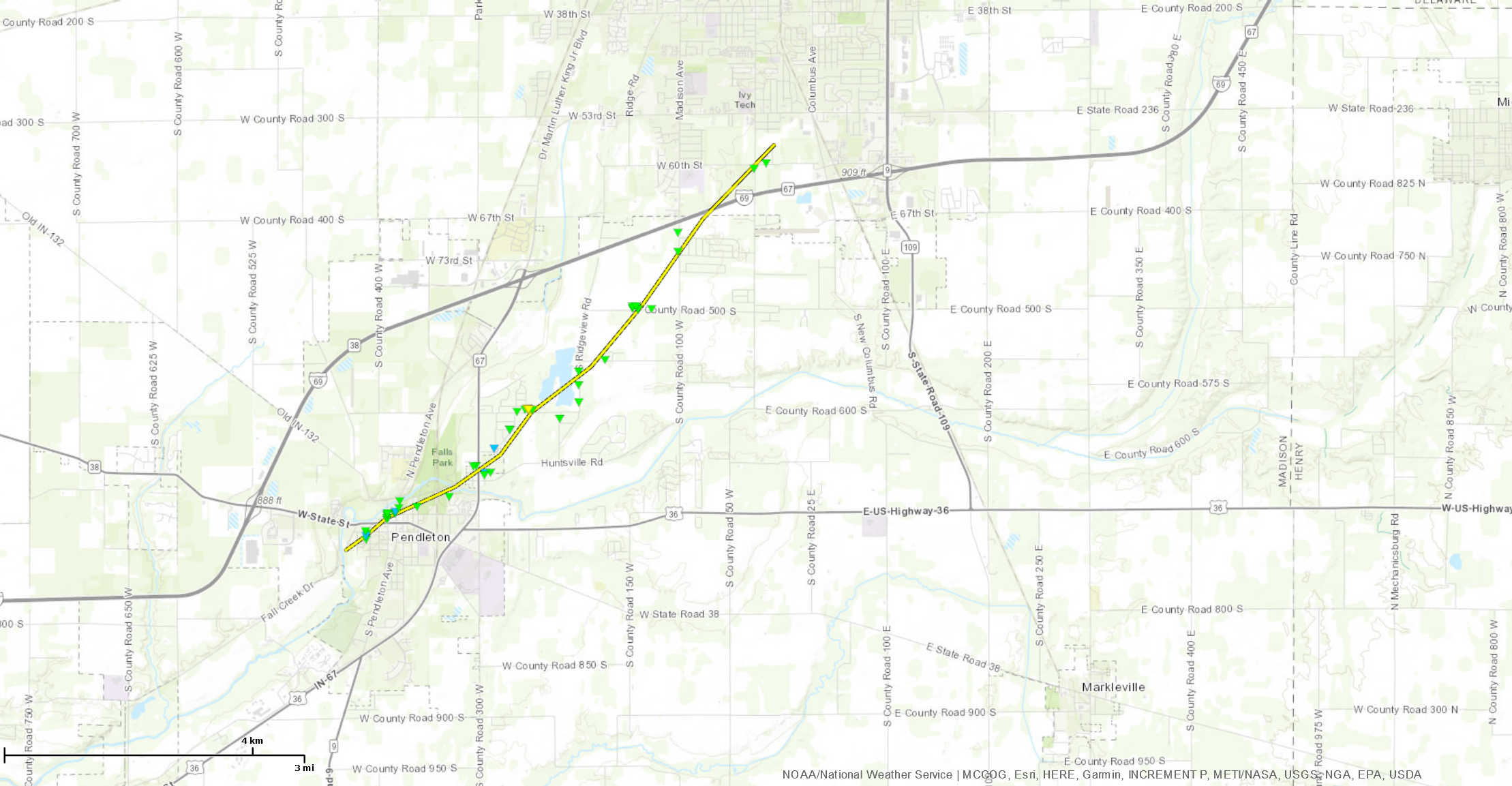 Tornadoes And Severe Storms Of May 27 2019 - Us-track-map-it