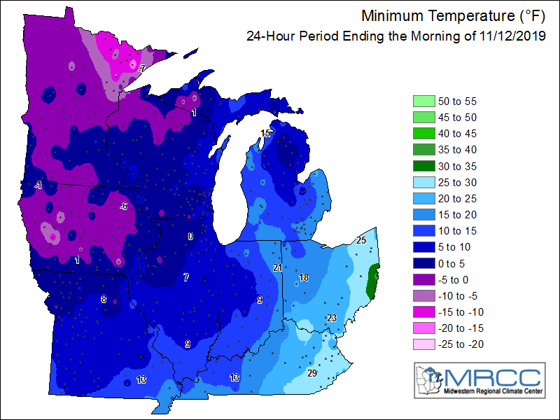low temp map