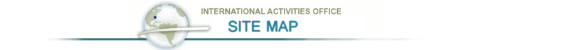 International Activities Office:Site Map