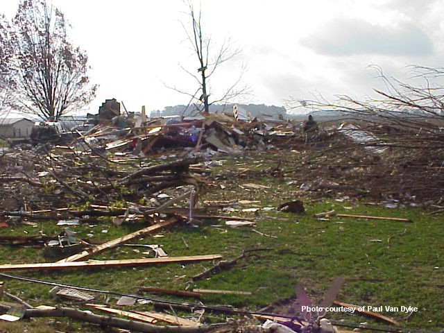 Damage near Van Wert