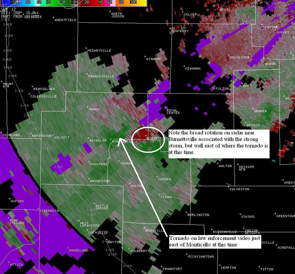 Indiana white county chalmers - 1915z Radar Velocity