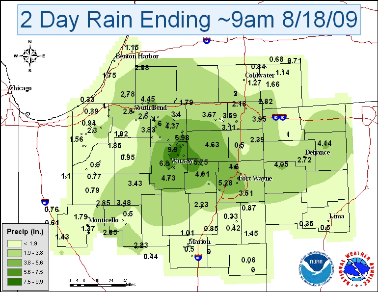 2 day rainfall totals