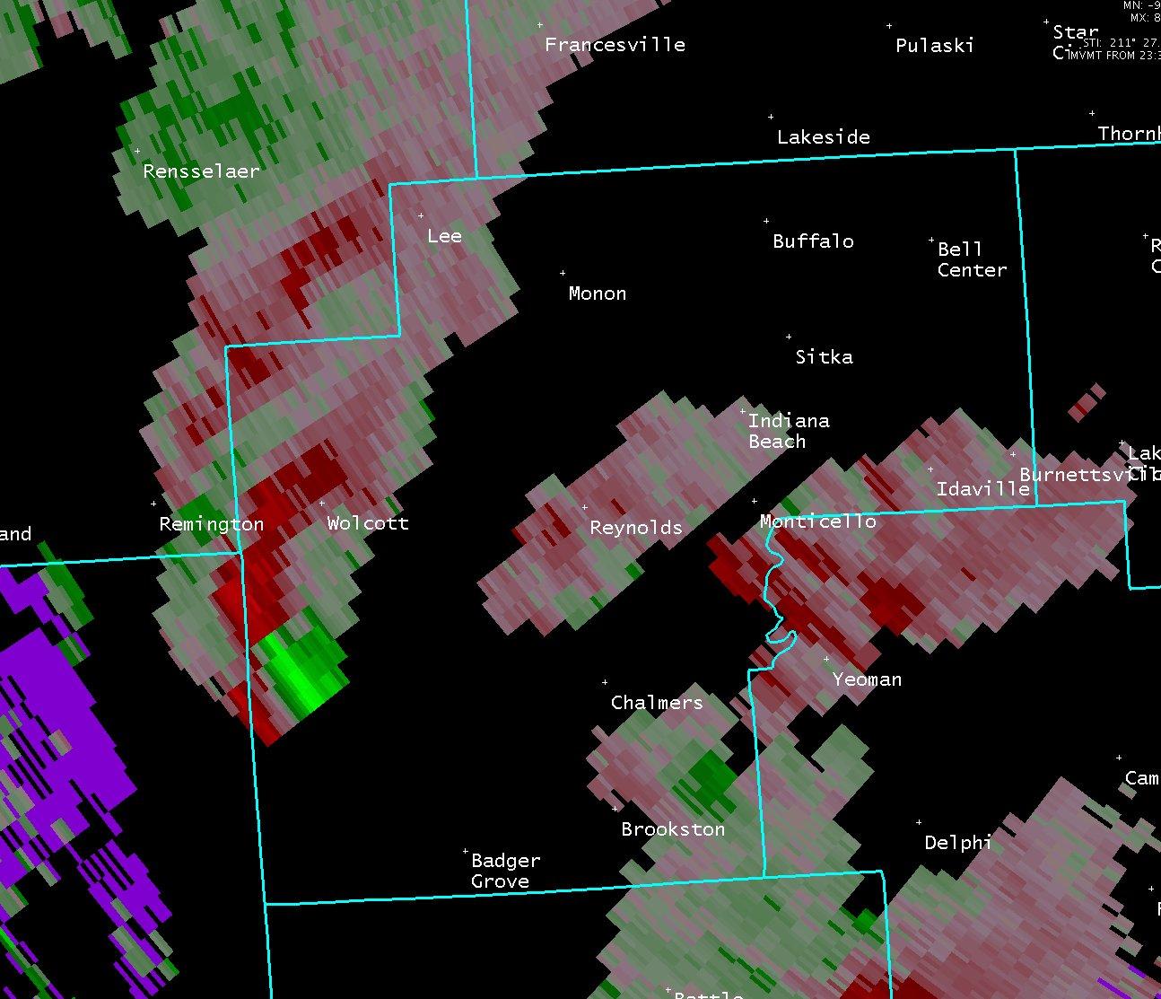 Indiana white county chalmers - Radar Image Radar Image