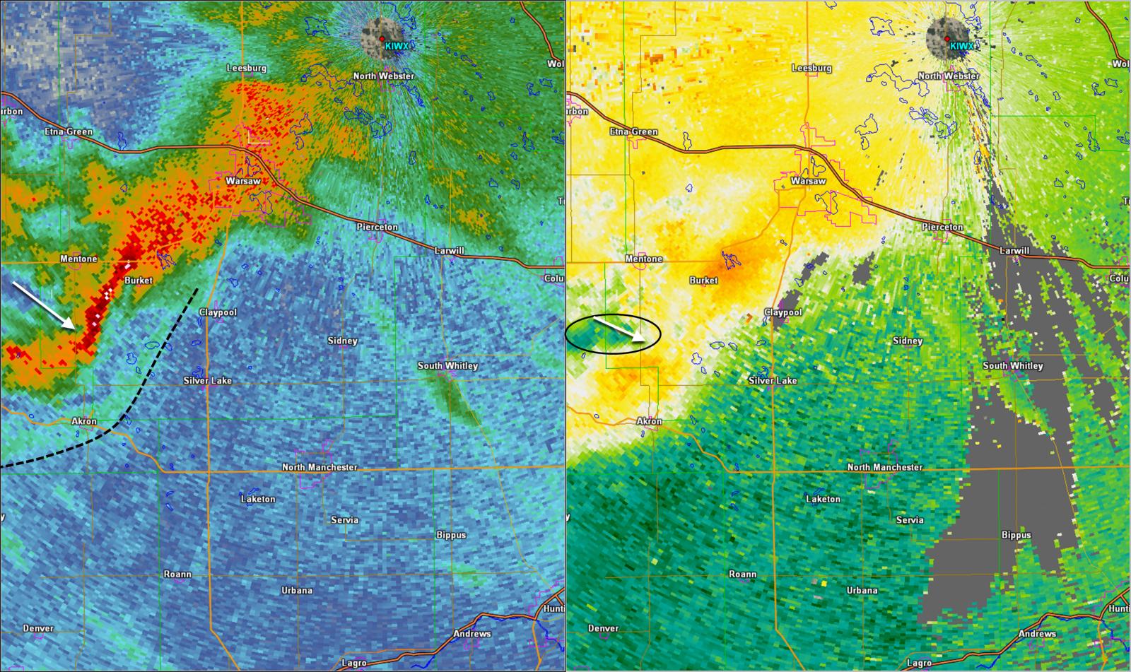 1001 pm EDT 0.5 degree radar reflectivity