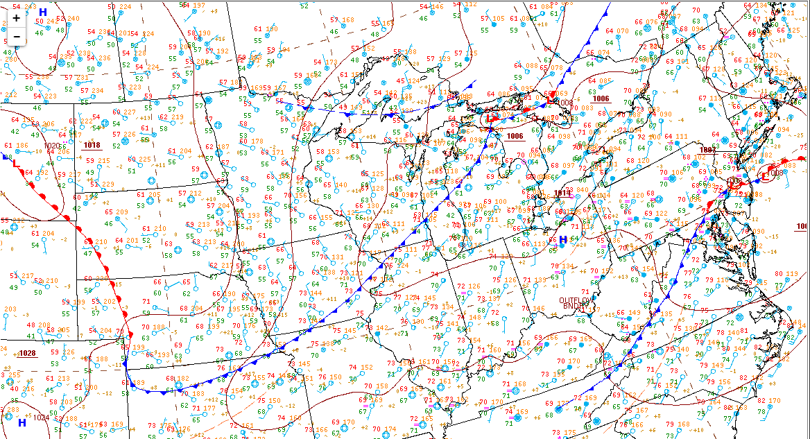 8am surface analysis