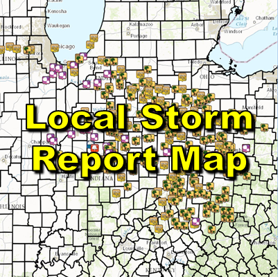 Preliminary Local Storm Report Map