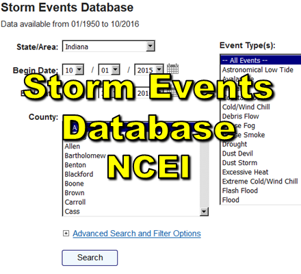 Storm Events Datbase