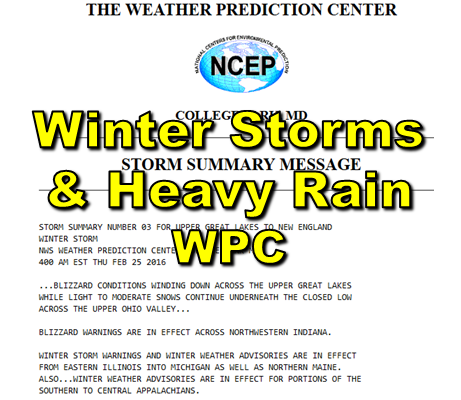 Winter Storms & Heavy Rain Events