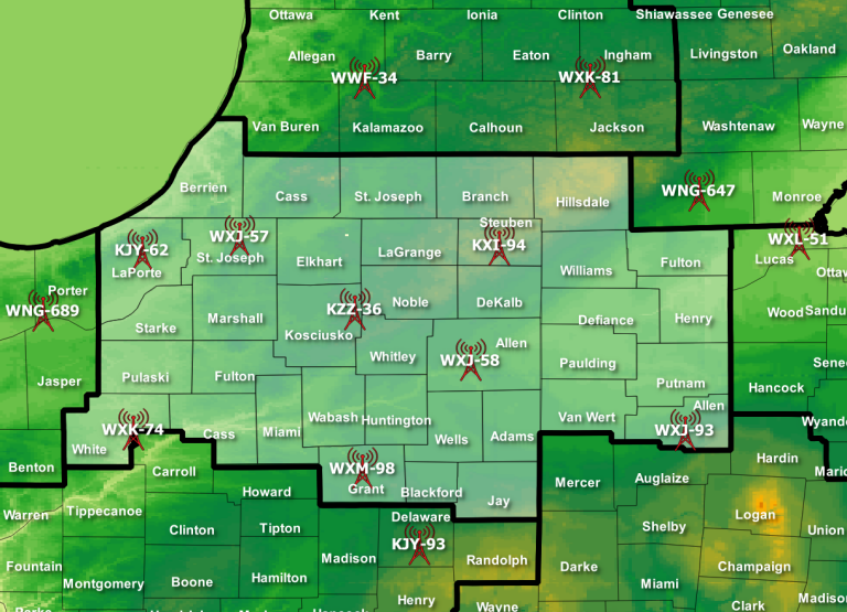Weather Radio Coverage Map