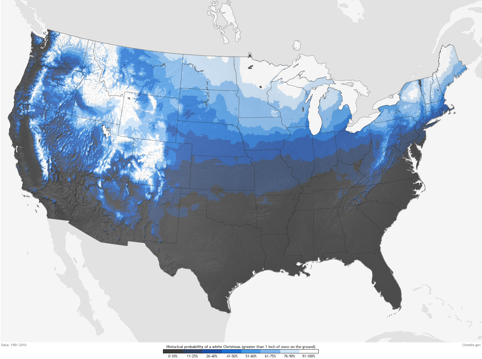 Whitechristmas - Us snow cover map weather com
