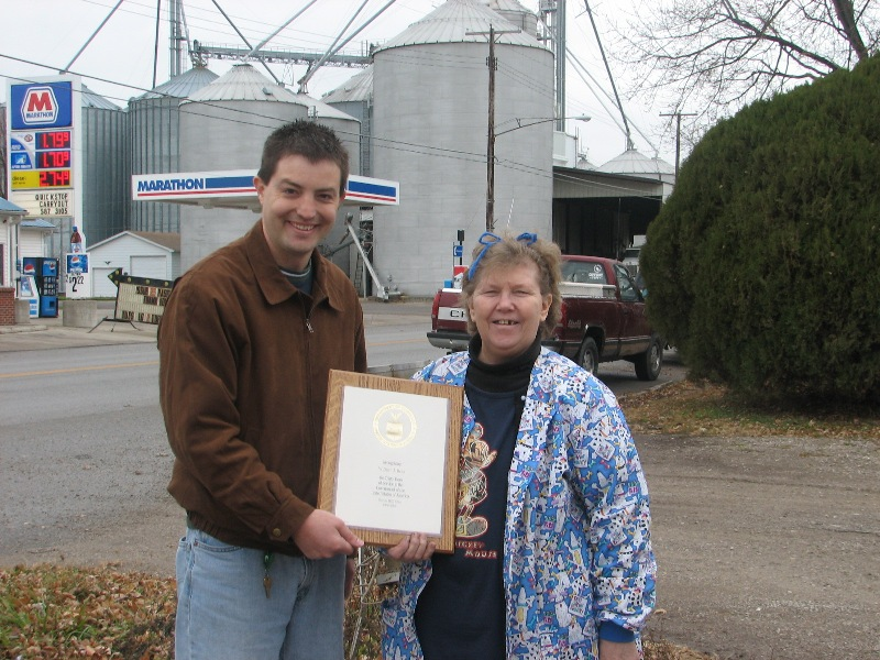 Grover Hill, OH 30 year award
