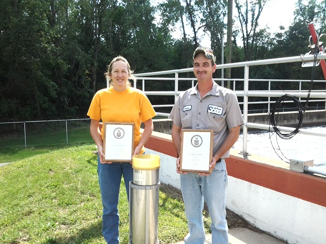Knox WWTP employees' 10 Year Awards