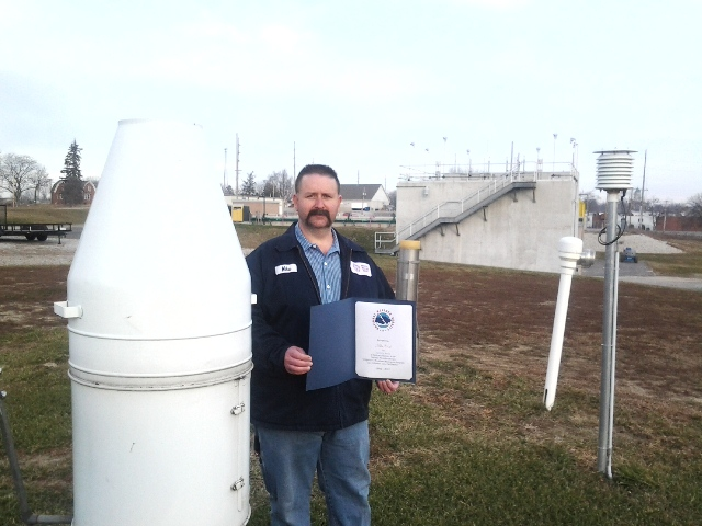 Columbia City, IN Water Pollution Control Facility Employee 20 Year Award
