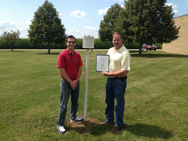 Wauseon, OH Wastewater Treatment Plant Employee 20 Year Award