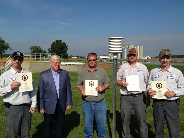 Berne, IN Wastewater Treatment Plant Employees Length of Service Awards