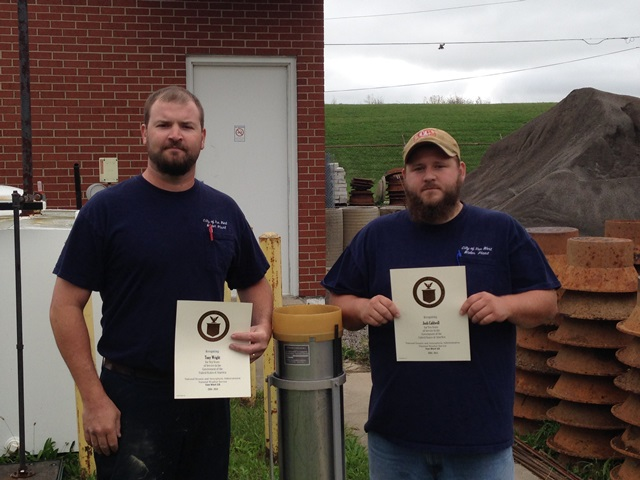 Van Wert, OH Water Treatment Plant Employees Length of Service Awards