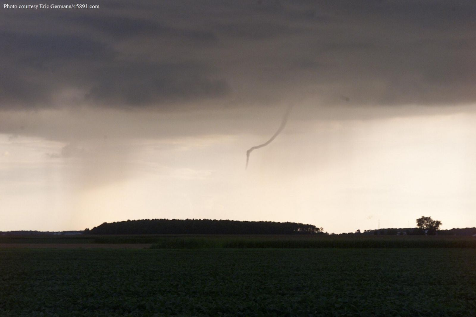 Northern Indiana Funnel Cloud Tornado And Tornado Damage