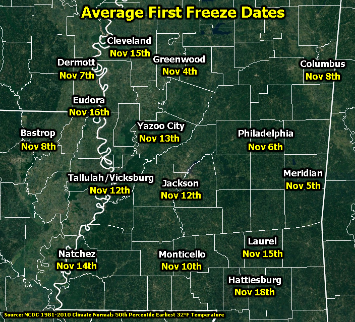 First Freeze Dates