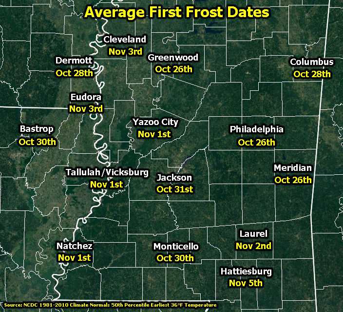 First Frost Dates