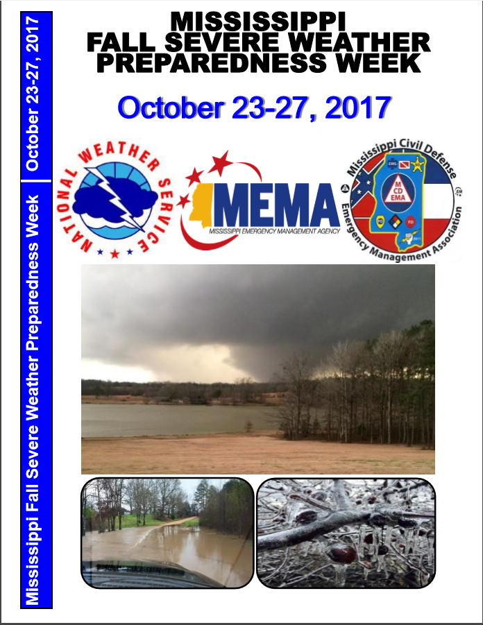 Mississippi Fall Severe Weather Preparedness Week brochure