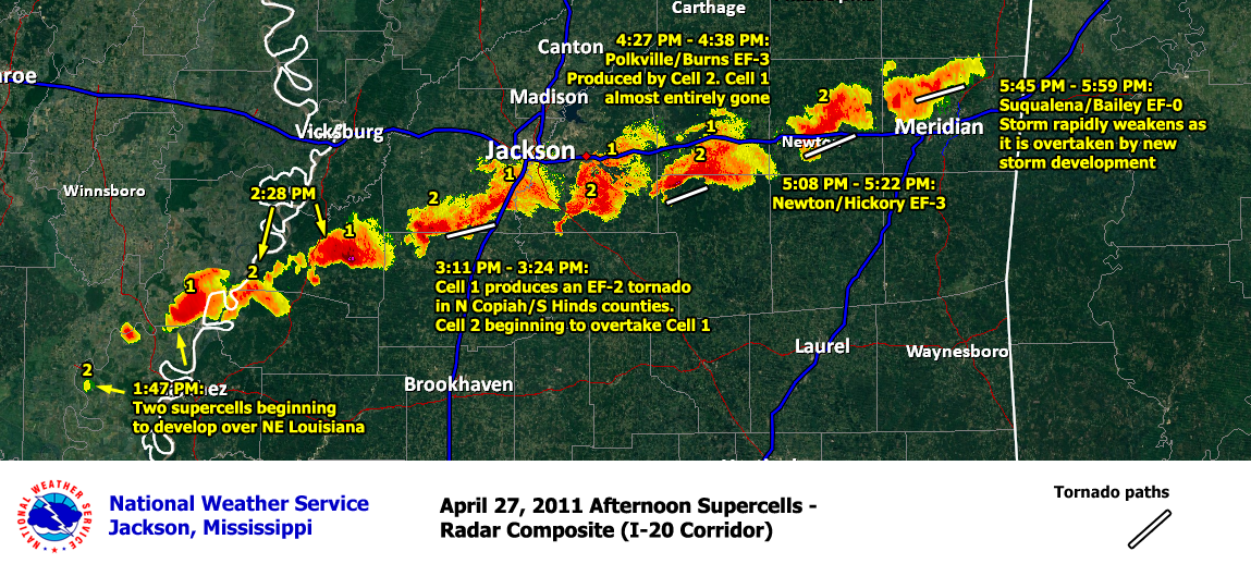 NWS Jackson, MS April 25-27, 2011 Severe Weather Outbreak on