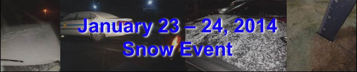 January 23-24, 2013 Snow Event