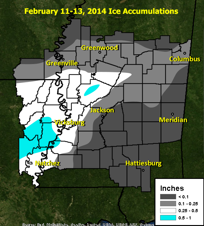 Ice Accumulation Map