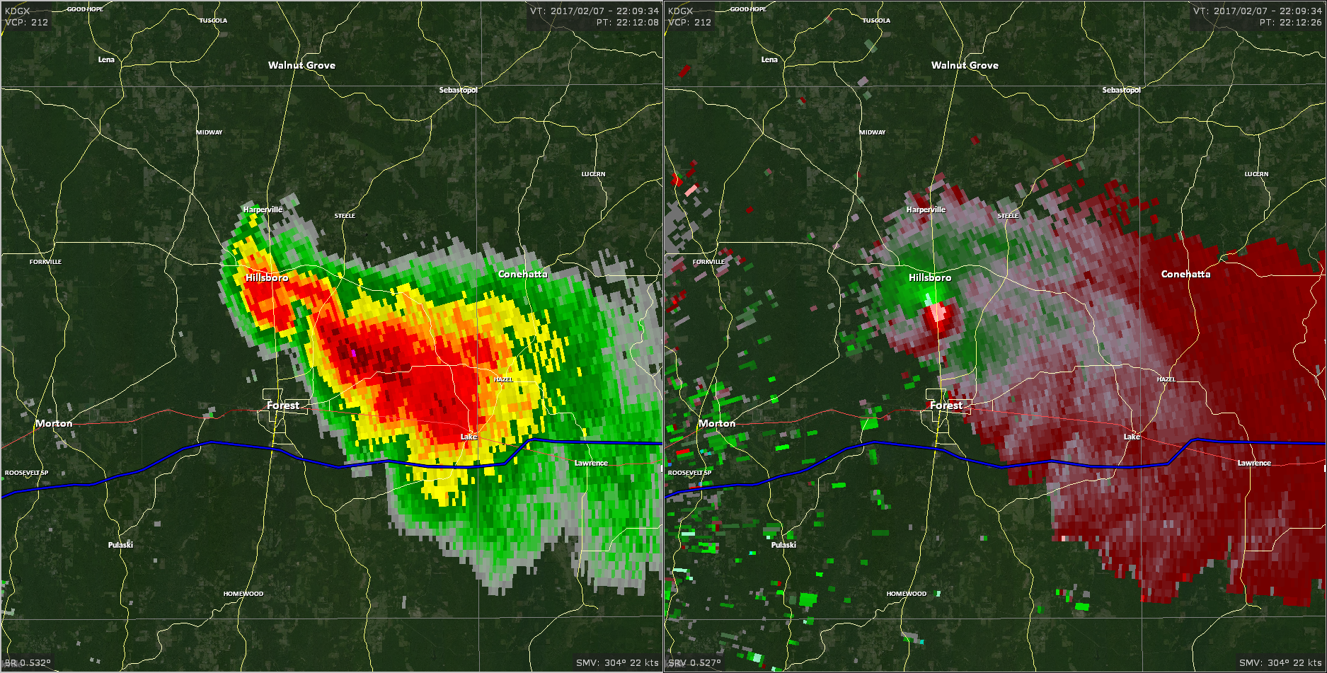 Radar - Scott County Tornado