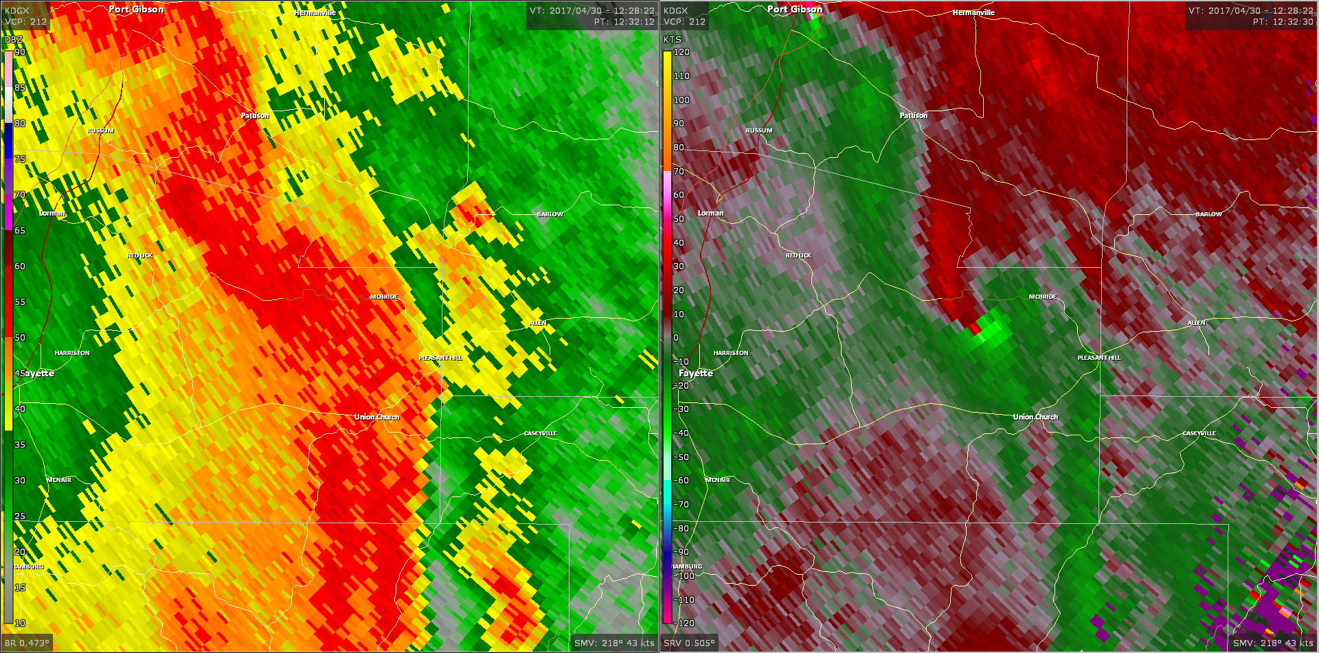 Radar - Jefferson County Tornado