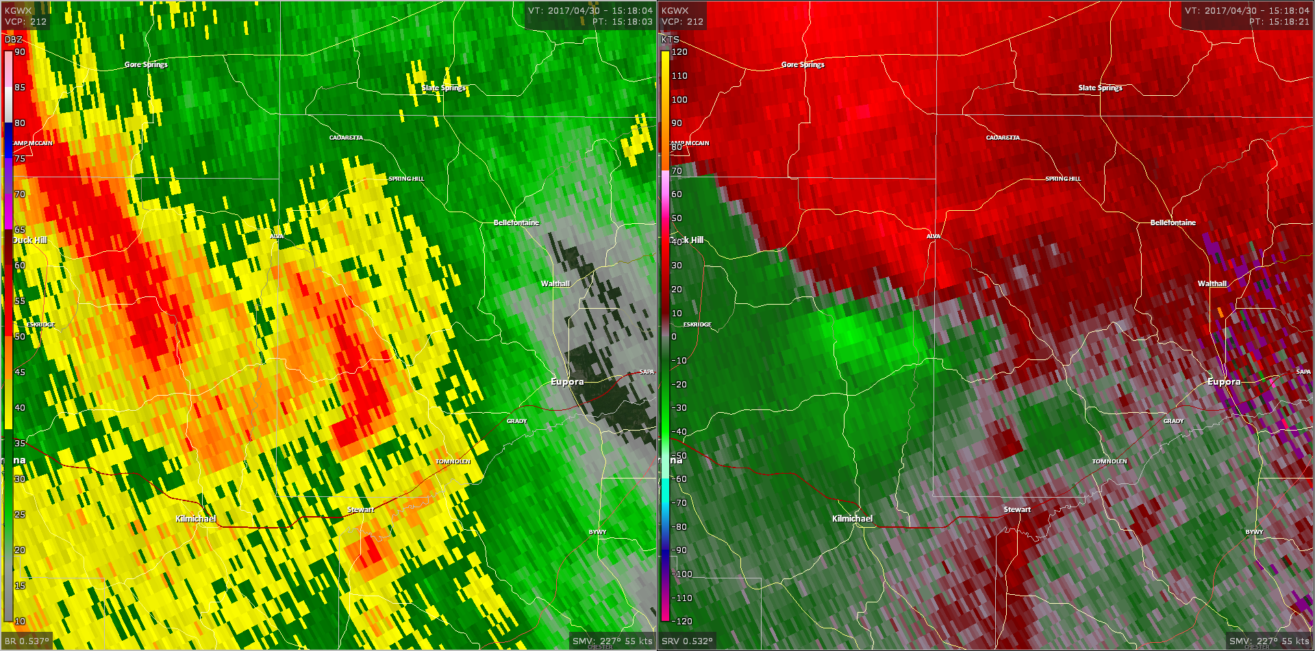 Radar - Montgomery Webster County Tornado