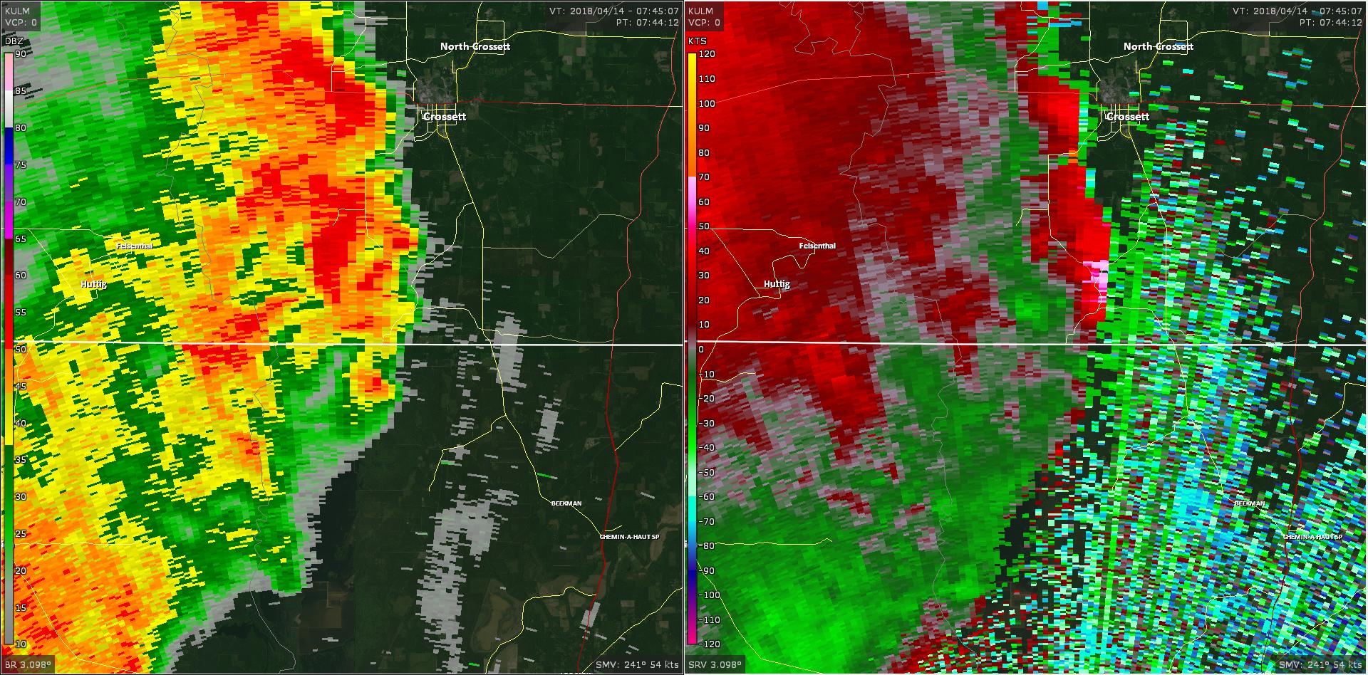 Radar - Ashley County Tornado