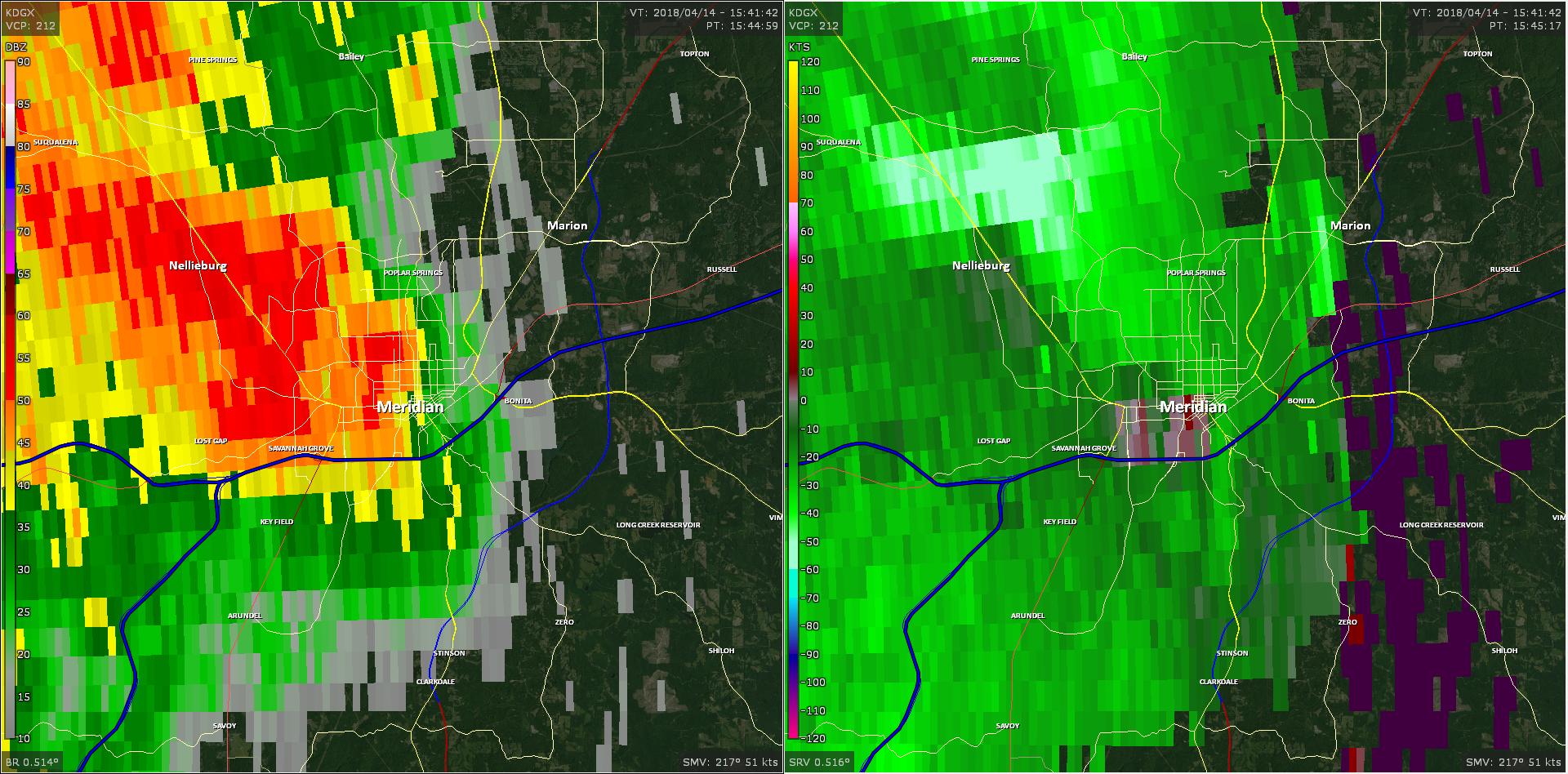 Radar - Meridian Tornado