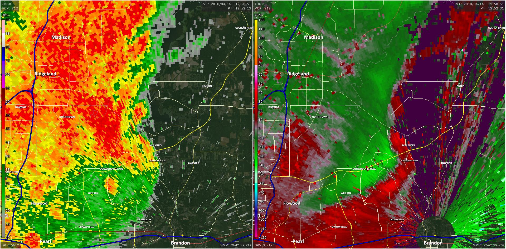 Radar - Flowood Tornado