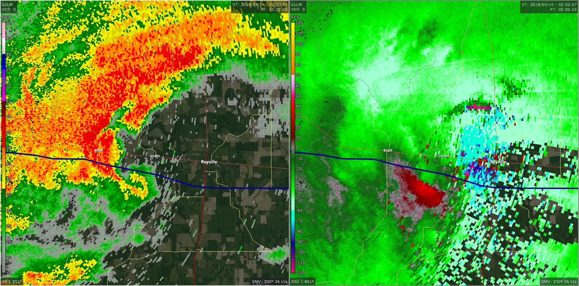 Radar - Richland Parish Tornado