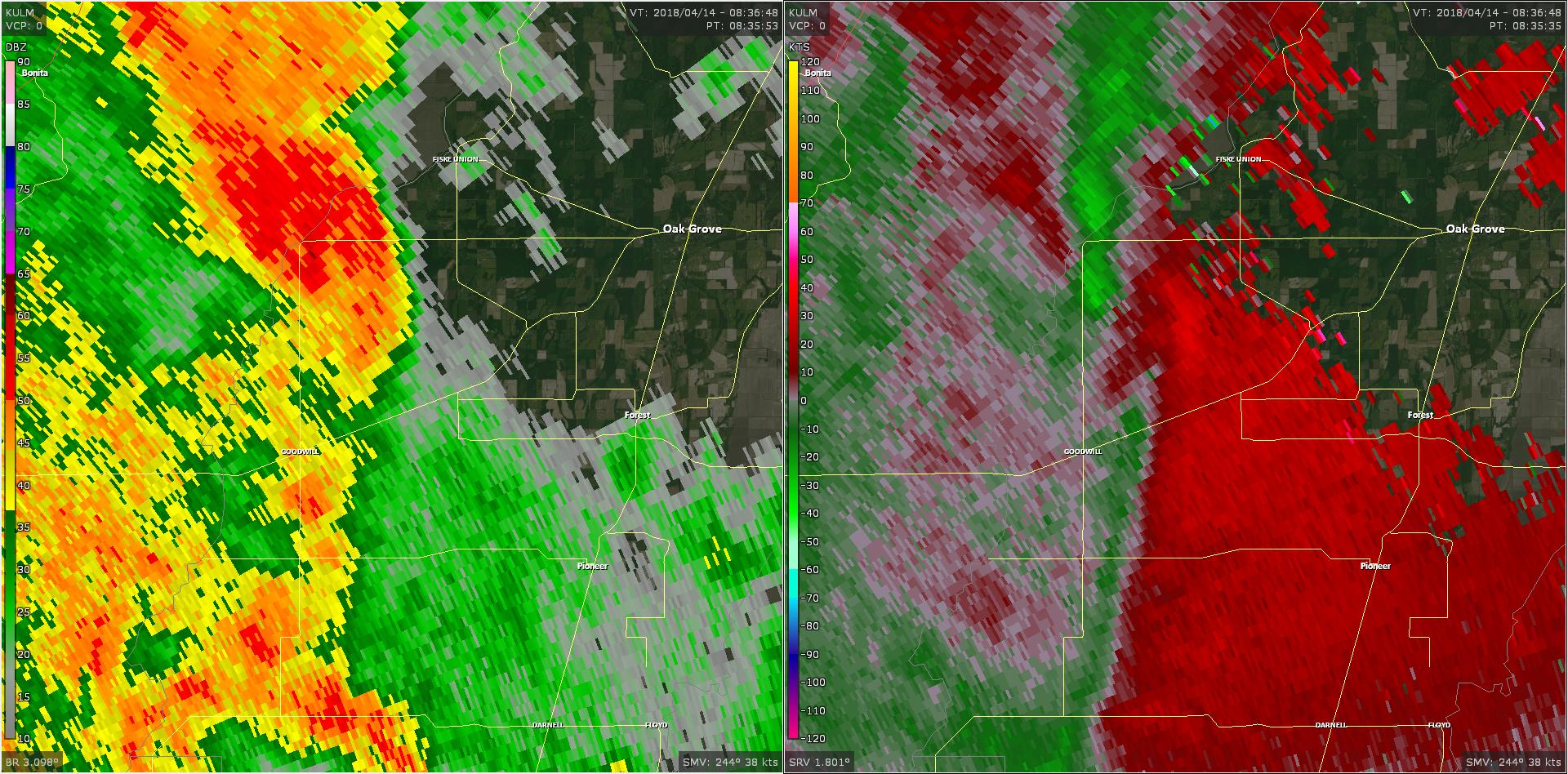 Radar - Montrose Tornado