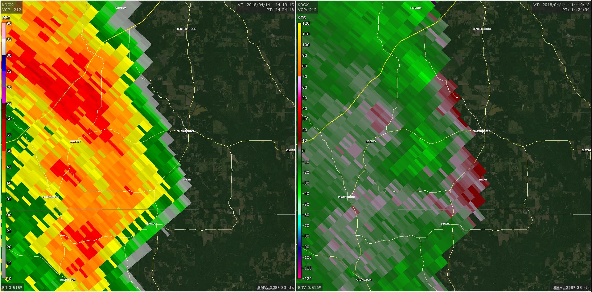 Radar - Winston County Tornado