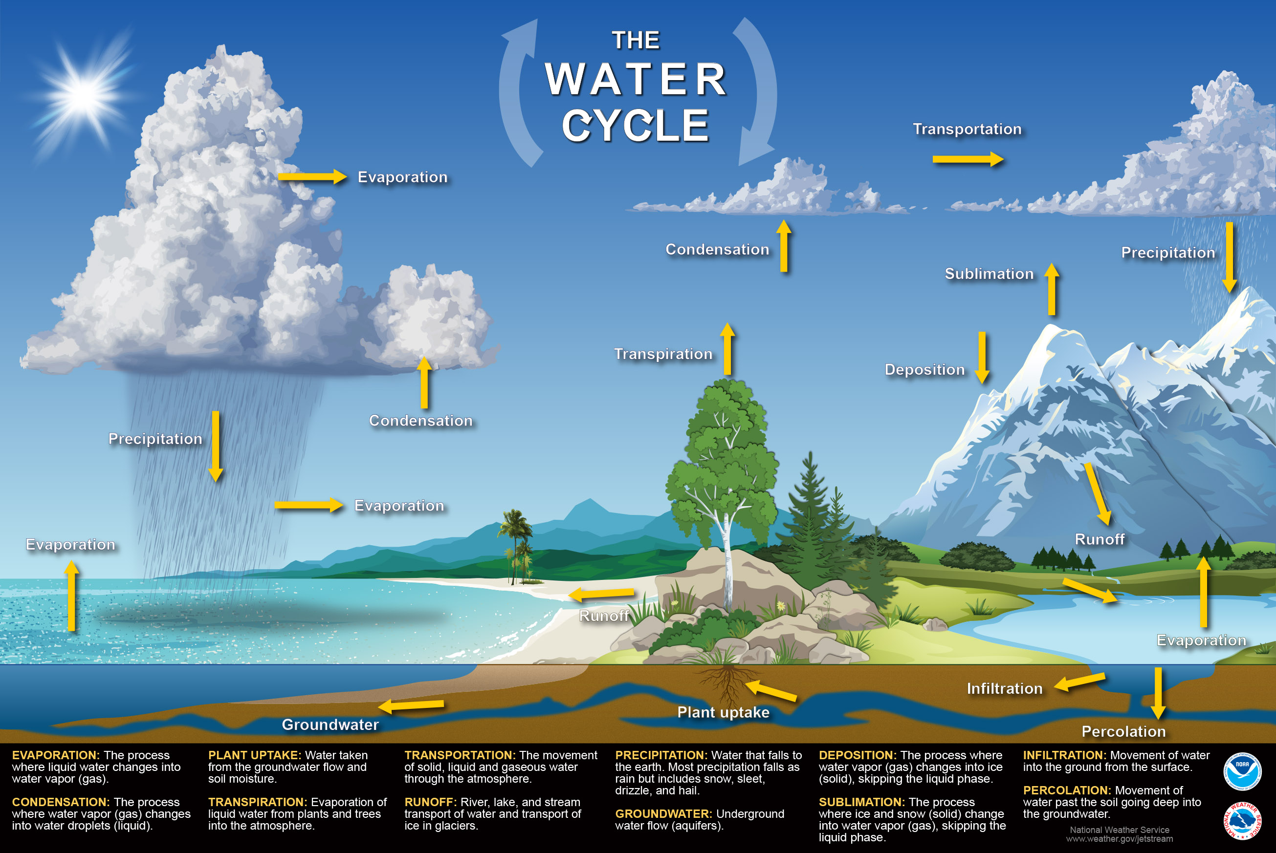 jetstream max: water cycle poster