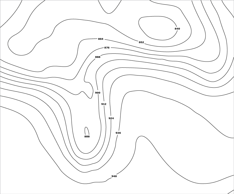 Height contours