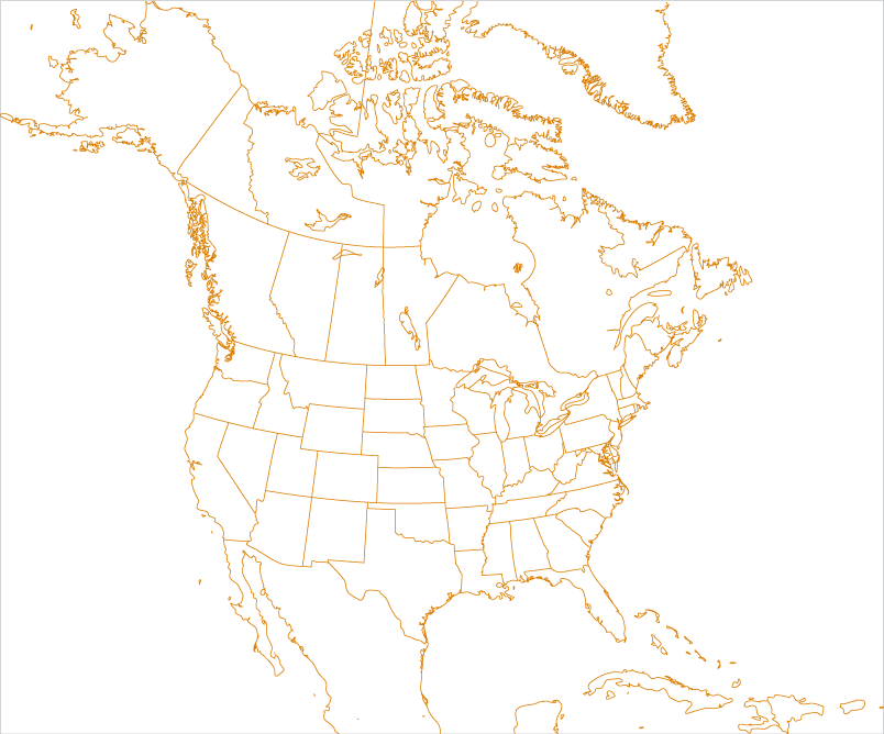 Map of the North America