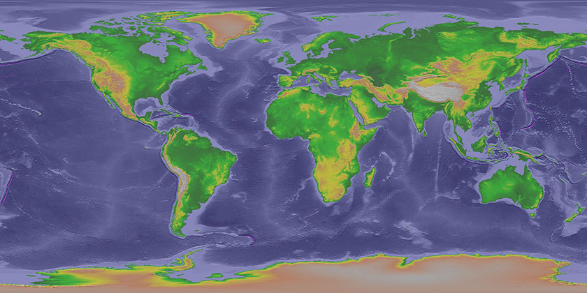 NWS JetStream MAX Major Ocean Currents - Major oceans of the world map