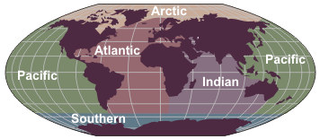 NWS JetStream Introduction To The Oceans - The five major oceans