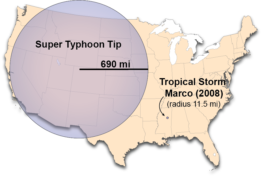 Image result for tropical storm marco size""