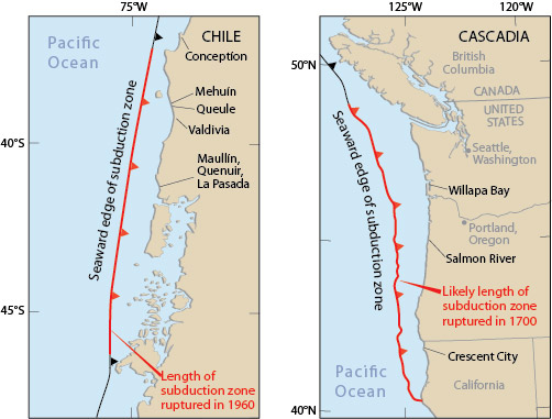 1960 Chile Earthquake Map.Nws Jetstream May 1960 Surviving A Tsunami