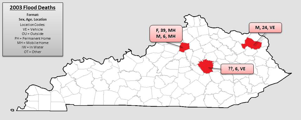 Kentucky Flood Death History