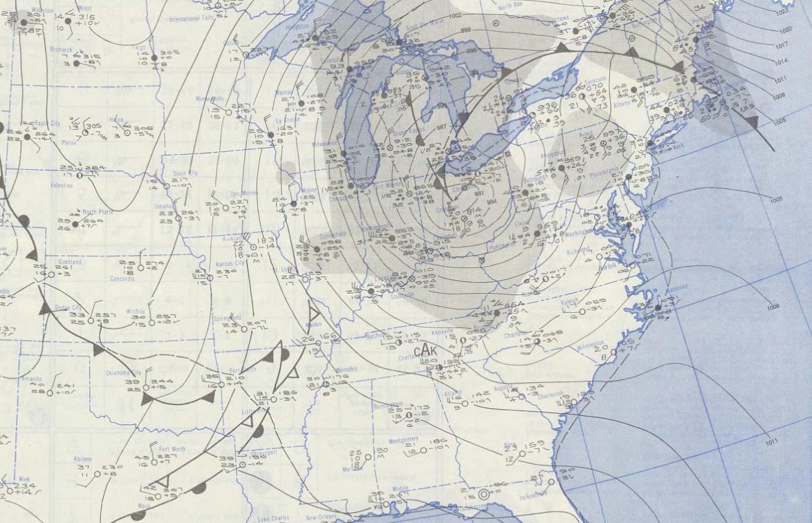The Great Appalachian Storm Of - Us fronts map before ice storm