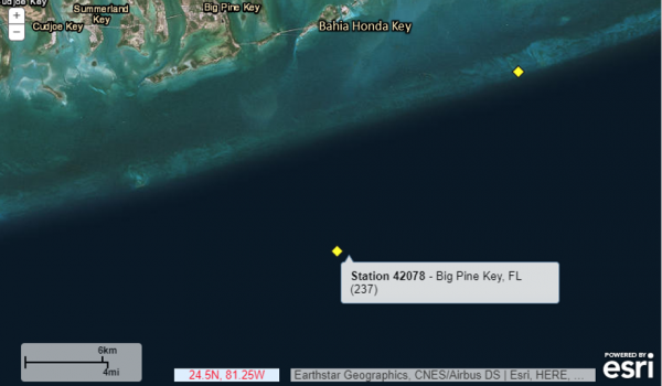 Satellite map of buoy location