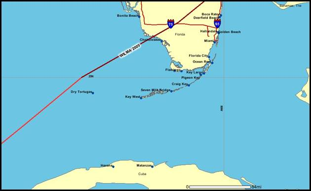 Map Of Florida Key West.Wilma